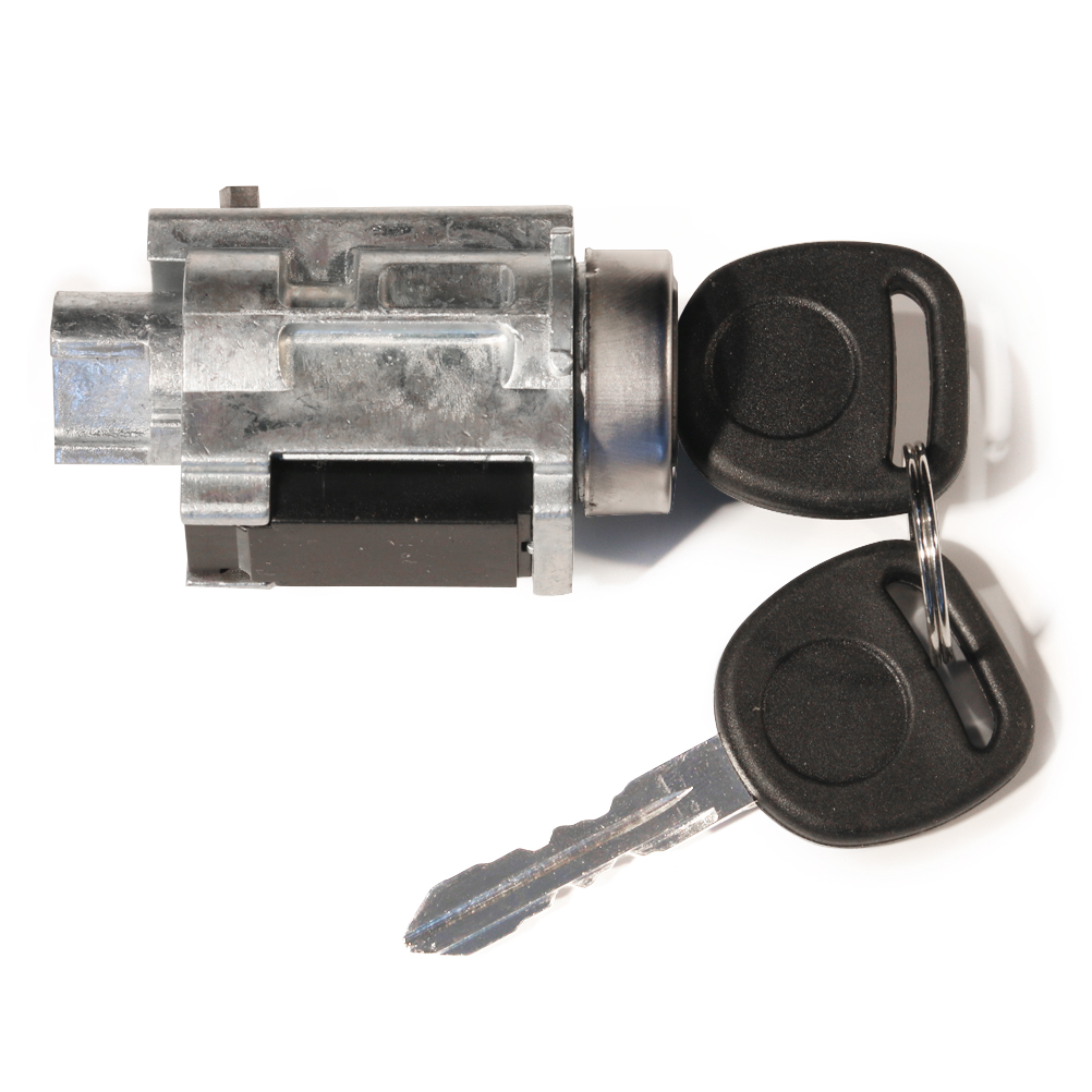 Ignition Lock Cylinder With Keys & Passlock Chip - Replaces# D1493F, 12458191 - Fits Chevy & GM Image