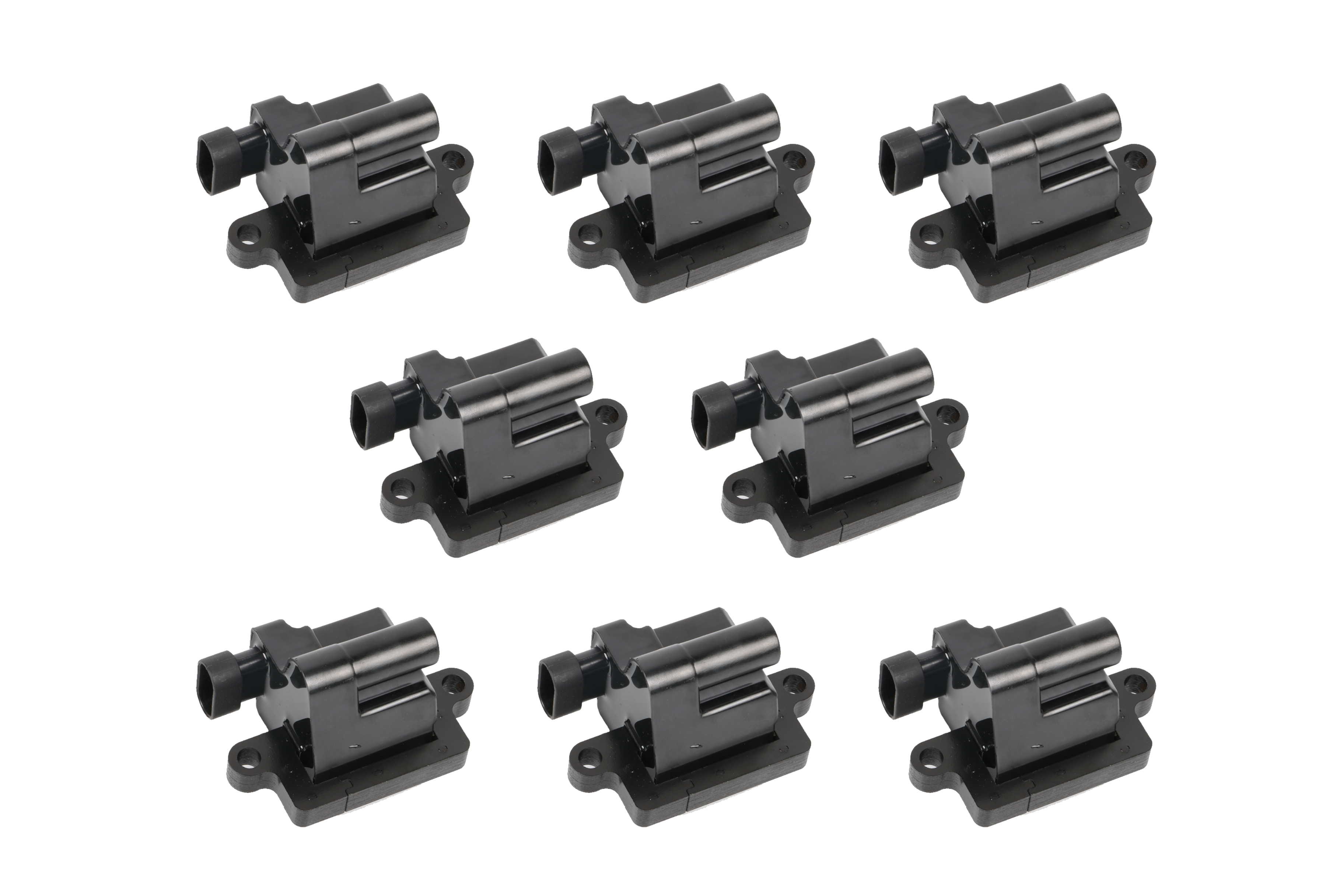 Ignition Coil Set of 8 - Replaces# 12558693, GN10298 - Fits Cadillac Escalade, Chevy Silverado, Avalanche, Express 3500, Suburban, Tahoe, GMC Sierra, Savana, Yukon & more Image