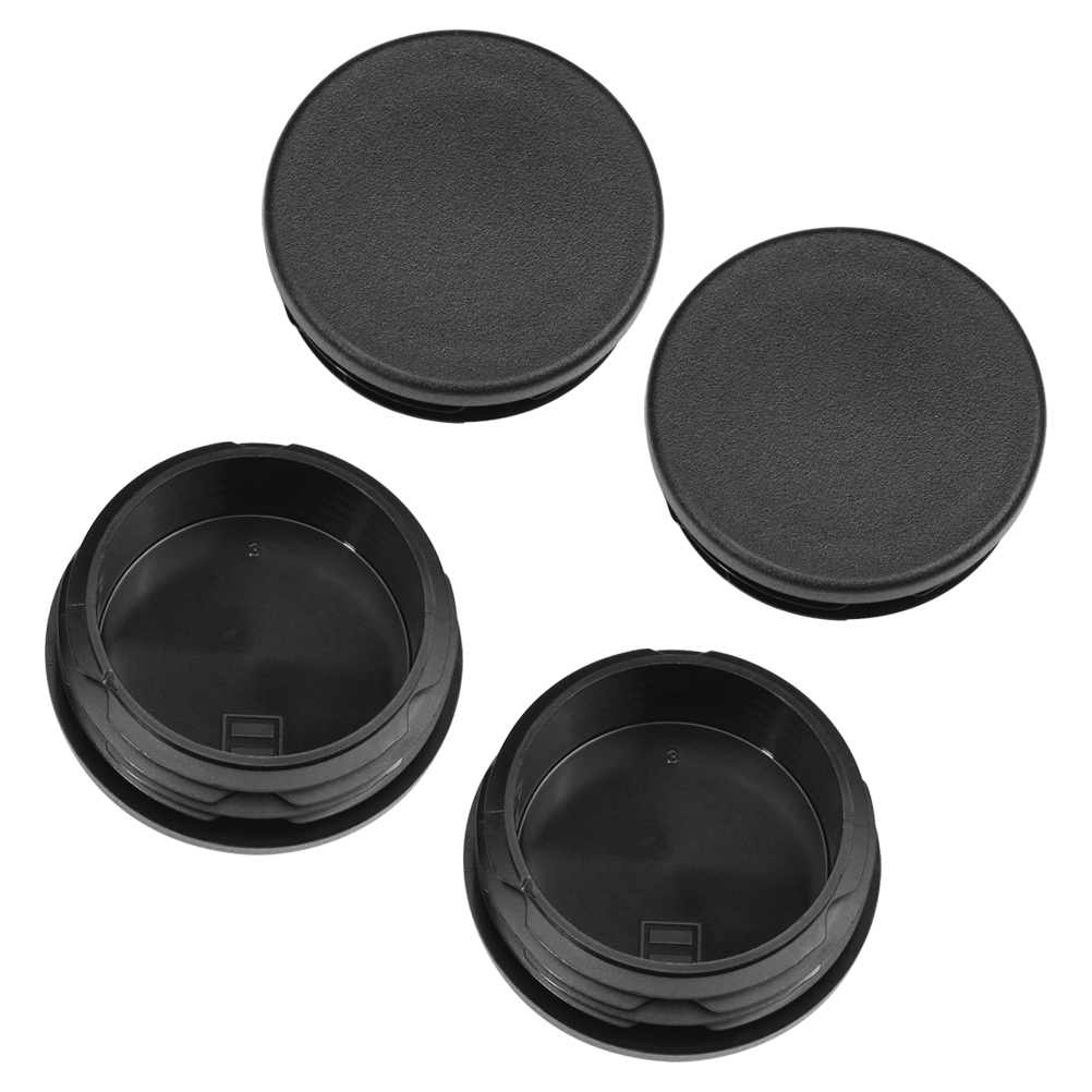 Frame Tube Plug Set of 4 - Fits 1999-2018 Chevy Silverado 1500 & GMC Sierra 1500 - Rear Truck Bed Caps Image