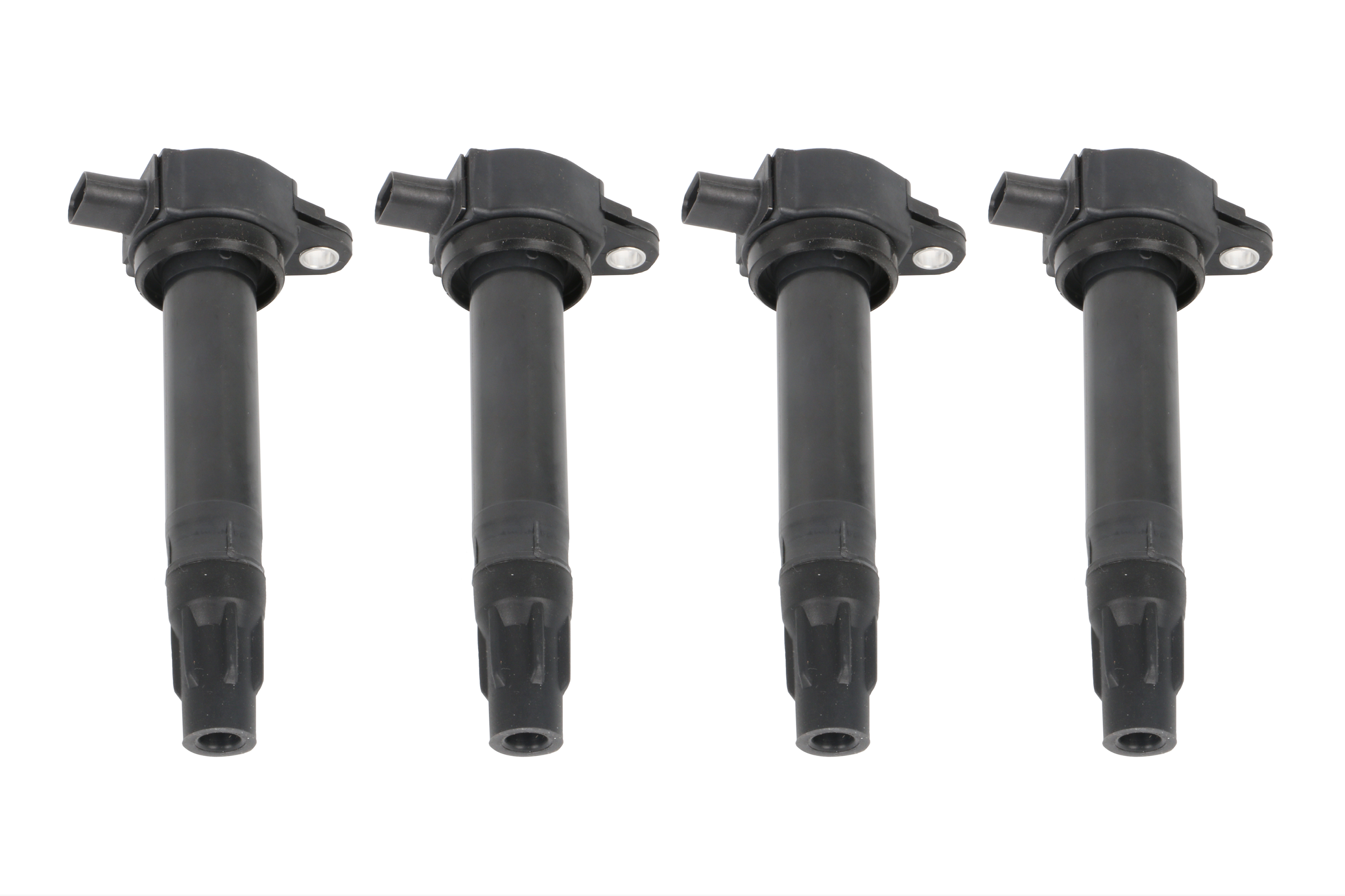 Ignition Coil Pack Set of 4 - Replaces# 4606824AB - Fits Chrysler 200, Sebring, Dodge Avenger, Caliber, Journey, Jeep Compass, Patriot Including Year 2007-2017 Image