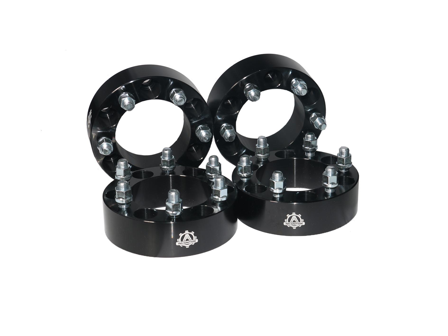 "Wheel Spacer Set of 4-6 Lug 2"" 50mm Hub & Wheel Centric Adapter Kit 6x5.5"" Fits GM Image"