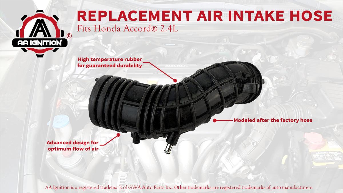 2007 2.4L Intake Filter Tube 17228 RAA A00-696-739 Honda Accord 03 Replaces# 17228-RAA-A00 06 05 04 Renewed 2006 2005 AA Ignition Air Intake Hose Fits Honda Accord 2003 2004 07