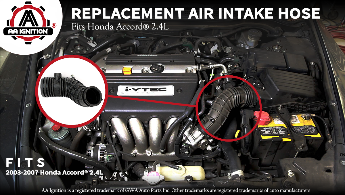 Honda Accord 1998-2000 AT /& MT L4-2.3L Engine Air Intake Hose W//Clamps Fits