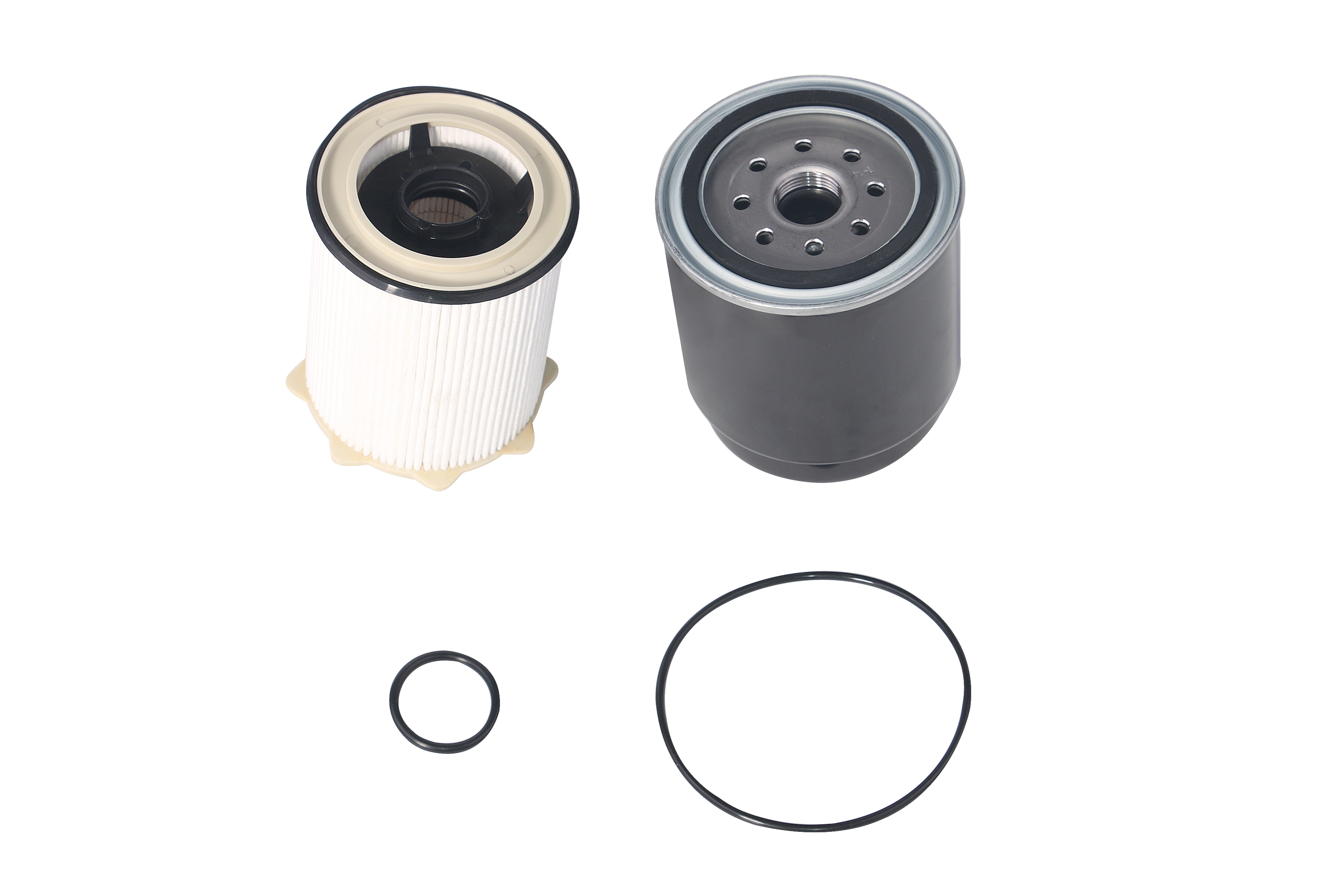 Diesel Fuel Filter Set Water Separator - Fits Ram 2500, 3500, 4500, 5500 6.7L Cummins Engine 2013-2018 Image