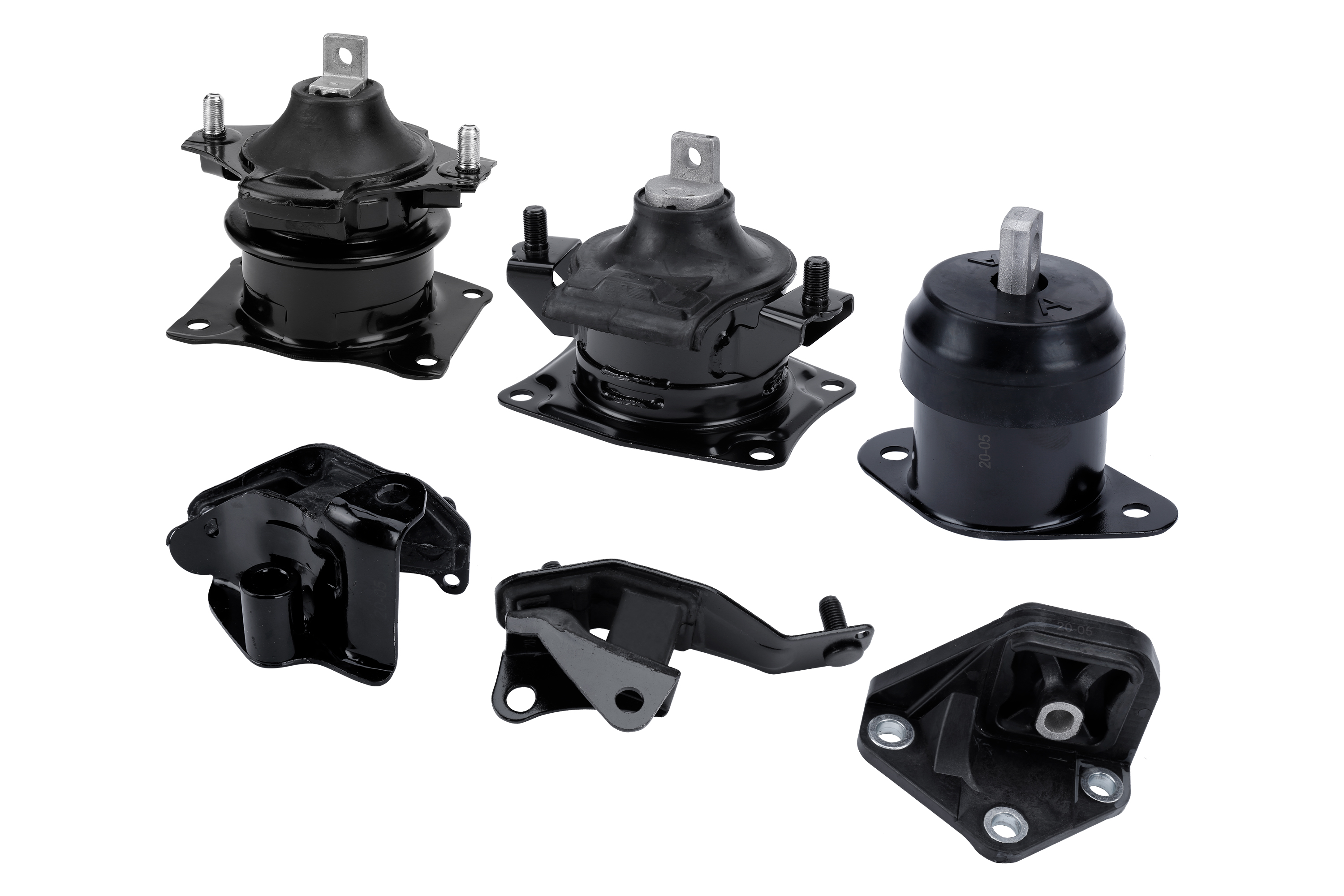Engine Motor and Transmission Mount Set of 6 - Fits Honda Accord 2003-2007 2.4L Image