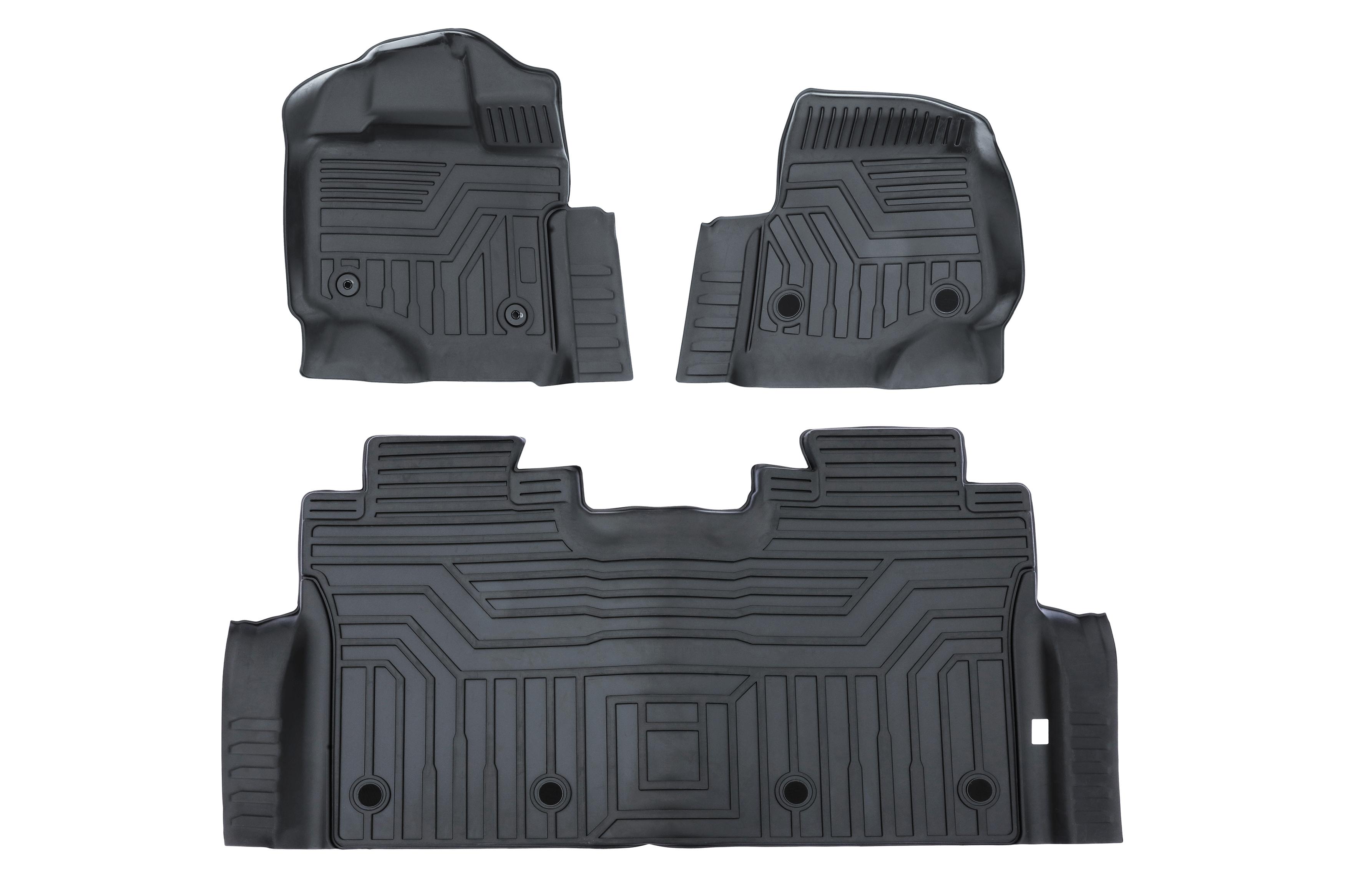 Front & Rear Floor Liner Set For Ford F-150 2015-2020 Image