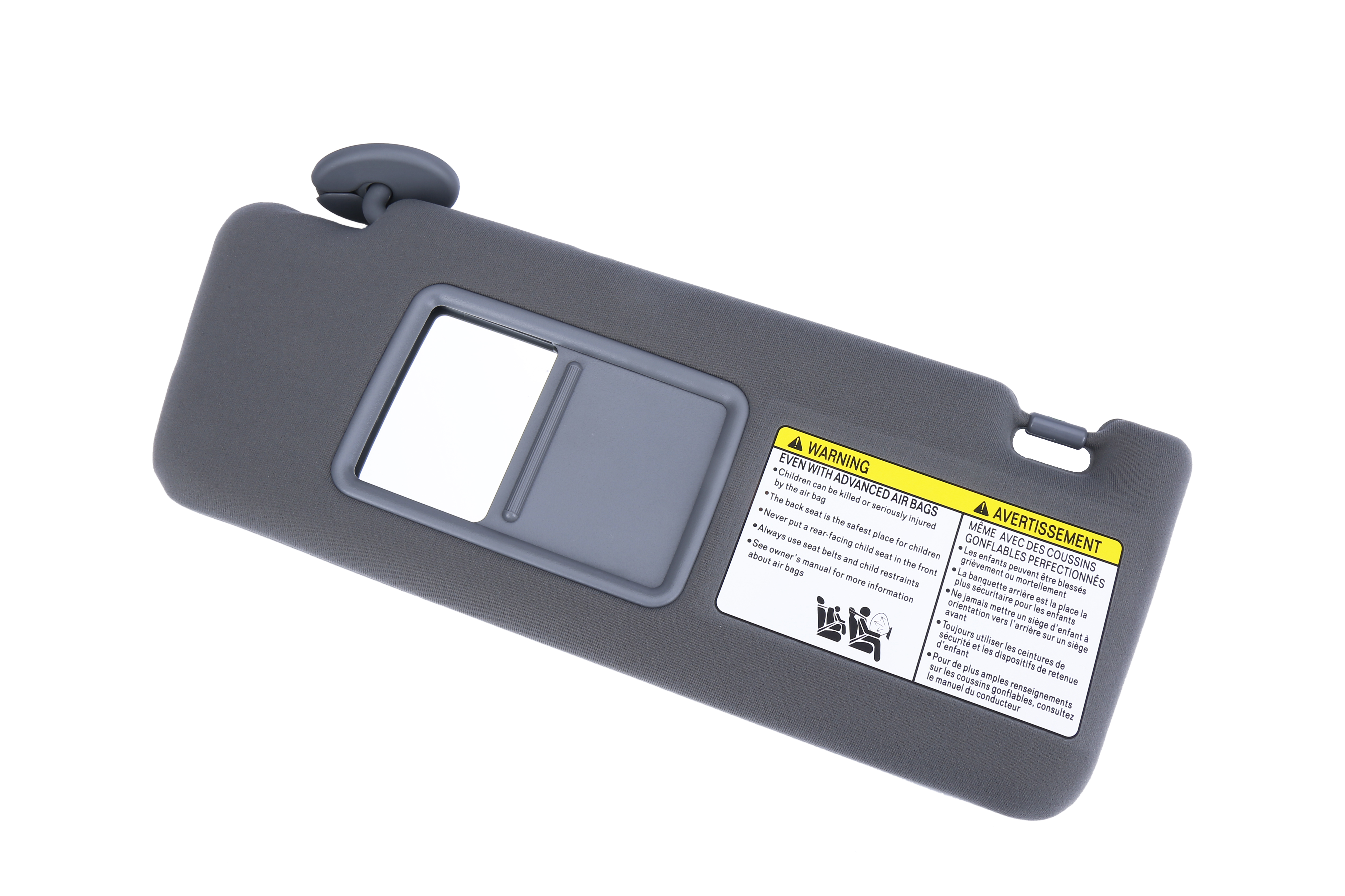 Driver Side Sun Visor Gray Without Light - Fits Toyota Tacoma 2005- 2012 - Replaces 74320-04181-B1 Image