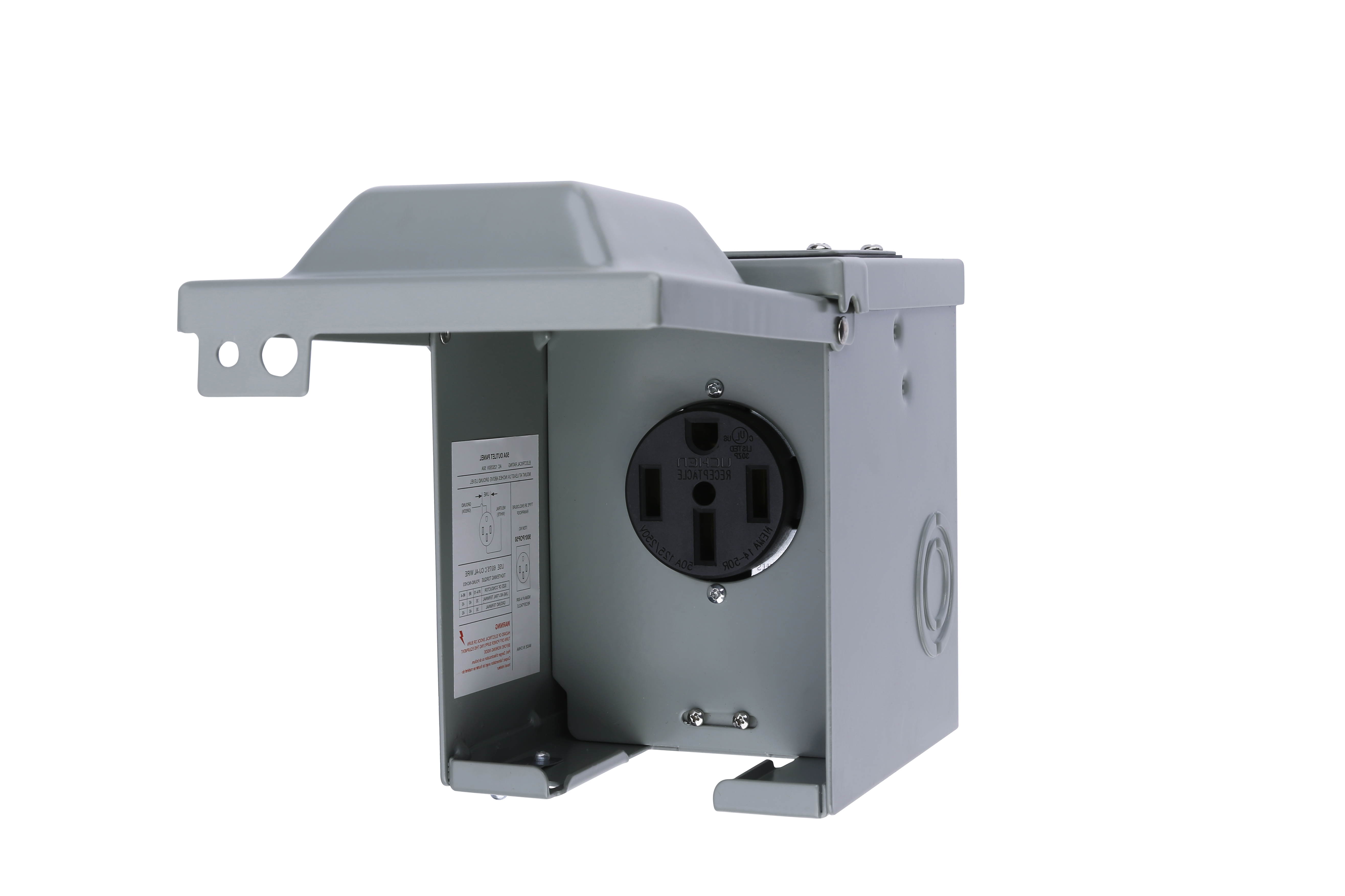 50 Amp 125/250 Volt Power Outlet Box - For RV, Campers, Travel Trailer Image